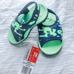 Infant size 7 sandal. Under Armour. New with tags
